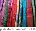 many colors indian fabric clothes at the market 54189336