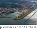 genoa airport and harbor aerial view 54189434