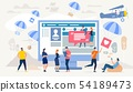Communication in Social Network Vector Concept 54189473