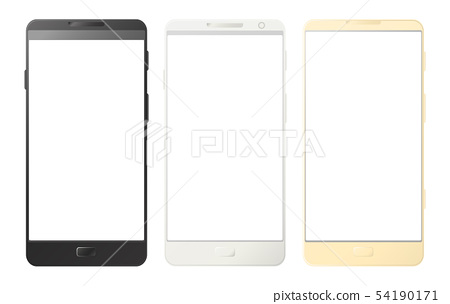 Mobile phones, smartphones isolated on white 54190171
