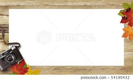 배경 - 우드 - 카메라 - 낙엽 - 가을 - 프레임 54190432