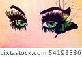Fantasy green eyes 54193836