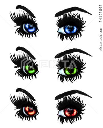 Colorful eyes 54193845