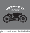 vintage motorcycle hand drawn vector 54193989