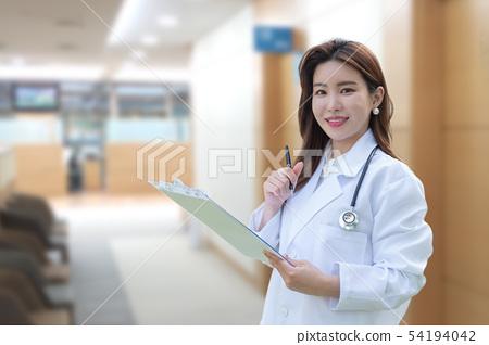 여자 의사, 의료 이미지 54194042