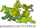 Funny crocodiles cartoon animal characters 54194616