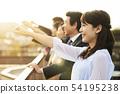 放鬆在屋頂的企業隊 54195238