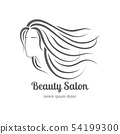 Beauty salon icon with girl face silhouette 54199300