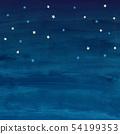 满天星斗的天空水彩方形背景材料 54199353
