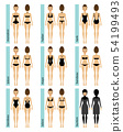 Womens swimsuit types vector illustrations 54199493