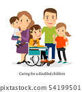 Family with special needs children 54199501