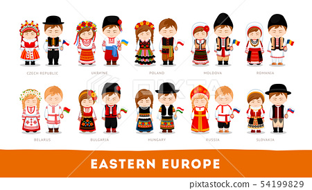 Europeans in national clothes. Eastern Europe.  54199829