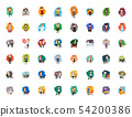 Different cartoon people characters big set 54200386