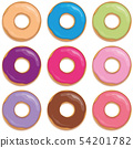 colorful set of donuts isolated on white background 54201782