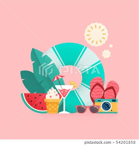 Summer time colorful banner design. 54201858