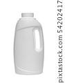 White bottle of detergent on white background 54202417