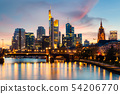 Frankfurt am main urban skyline with skyscrapers 54206770