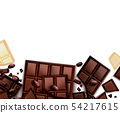 Chocolate Realistic Background Composition 54217615