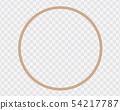 Circular frame made of natural rope or cord, 54217787