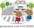 高級司機3(帶孩子的人行橫道)側身 54218400