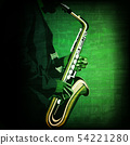 abstract music illustration with saxophone player 54221280