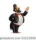 fat opera singer character on white 54223646