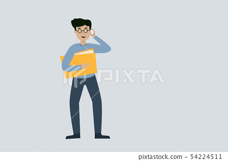 A Business Men holding document and talking 54224511