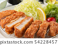 Delicious pork cutlet set 54228457