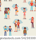 Youth teens group vector grouped teenagers and friends characters of girls or boys together 54230300