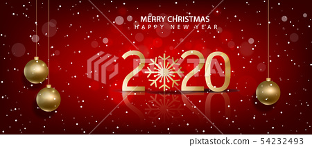 Happy New Year 2020, merry christmas.  54232493