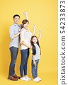 full length of Happy asian young Family 54233873