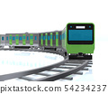 CG 3D illustration Three-dimensional design Japan Tokyo Transportation Vehicles Train Yamanote line 54234237