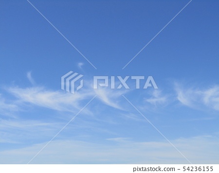 White clouds in the summer sky blue sky 54236155