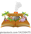 the storybook of the children playing  54236475