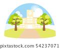 Summer day school landscape 54237071