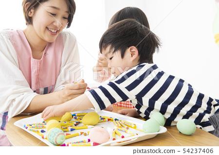 Nursery school kindergarten nursery school children children drawing 54237406