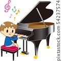 피아노를 연주하는 소년 54237574