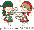 做糖果,聖誕晚會的女孩 54239119