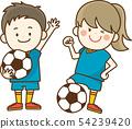축구를 즐기는 아이 54239420