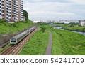 Go along Yokohama Line E233 series Tsurumi River 54241709