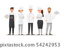 Group of professional chefs, man and woman chefs. 54242953