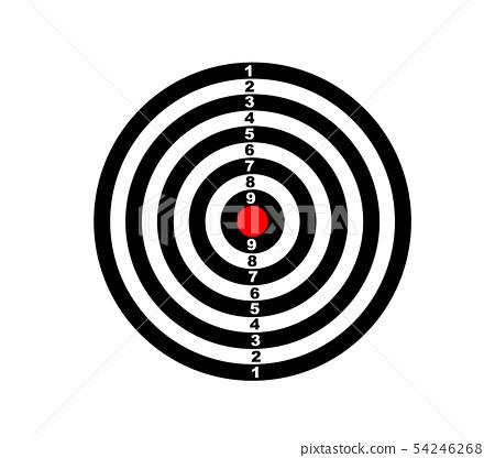 Dartboard for darts game vector illustration eps10 54246268