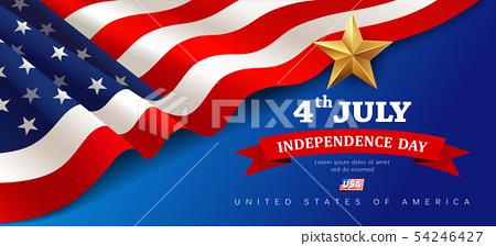 Vector Banner flag of united states independence  54246427