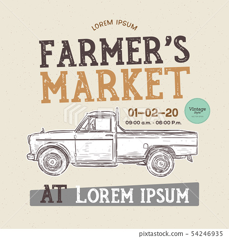 Farm fresh delivery design template. Classic 54246935