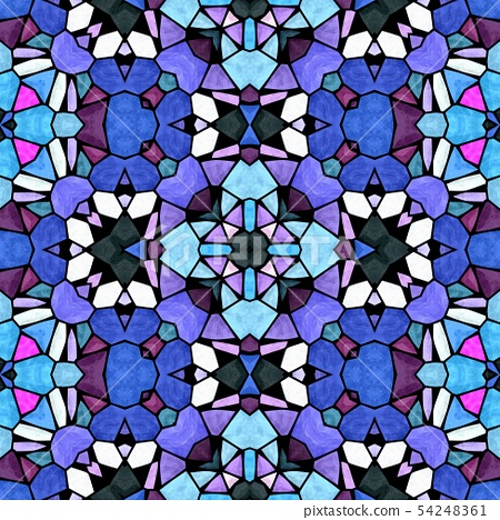 mosaic kaleidoscope jewel seamless pattern texture 54248361