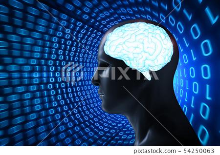 Human with shiny brain 54250063