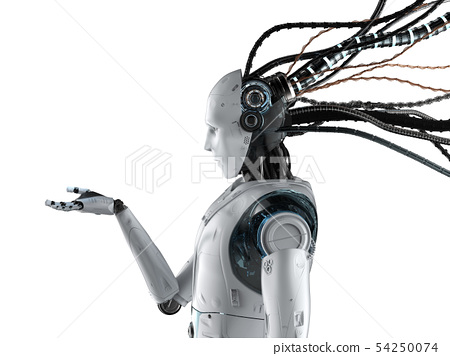 Robot with wires isolated 54250074