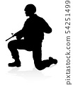 Soldier High Quality Silhouette 54251499