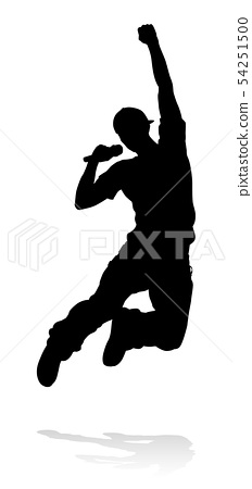 Singer Pop Country or Rock Star Silhouette 54251500