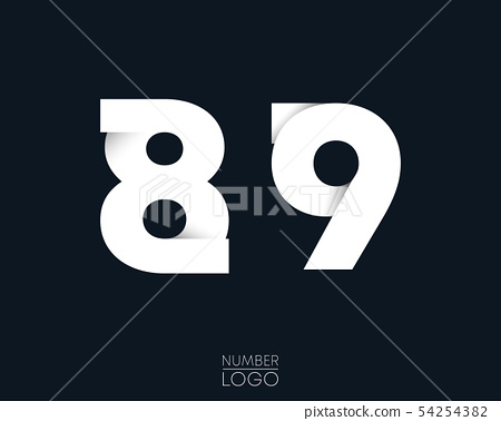 Number 8 and 9 template logo design. Vector 54254382